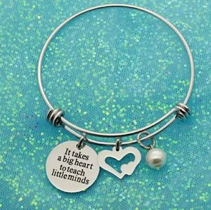 Jewelry - Teacher bangle bracelet - NWT